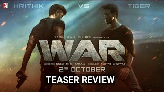 War | Official Teaser Review | Hrithik Roshan, Tiger Shroff, Vaani Kapoor | Releasing 2 Oct
