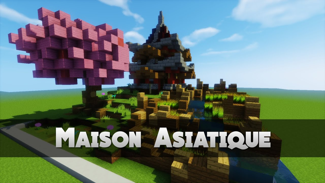 tuto maison asiatique minecraft youtube. Black Bedroom Furniture Sets. Home Design Ideas