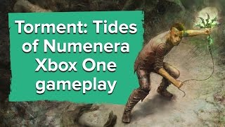 Torment: Tides of Numenera running on an Xbox One (plus Brian Fargo!)