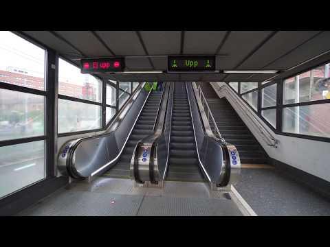 Sweden, Stockholm, Flemingsberg train station, 6X elevator , 9X escalator