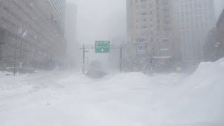 Crazy Spring -18°C !! Terrible snow storm hits Murmansk, Russia