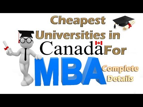 MBA In Canada | Low Cost Universities | Cost Of MBA In Canada