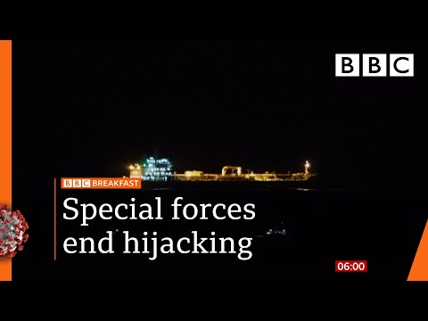 Tanker stowaways: 'Hijacking' ends after special forces storm ship 🔴 @BBC News live - BBC