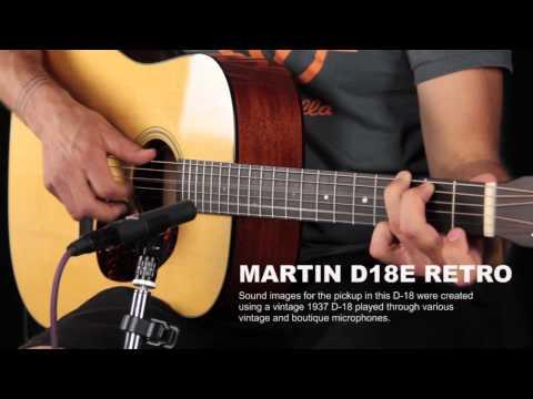Martin D18e Retro Fishman F1 Aura Review - mic vs pickup vs 3 easy mode settings