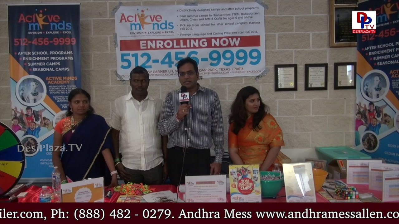 Active Minds School President speaks to DesiplazaTV at TCA Austin Ugadi Vedukalu - 2018