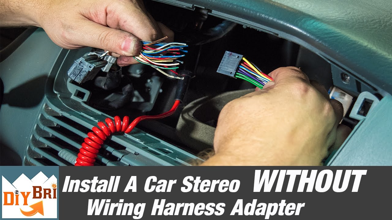 maxresdefault how to install a radio without a wiring harness adapter youtube how to wiring harness at fashall.co