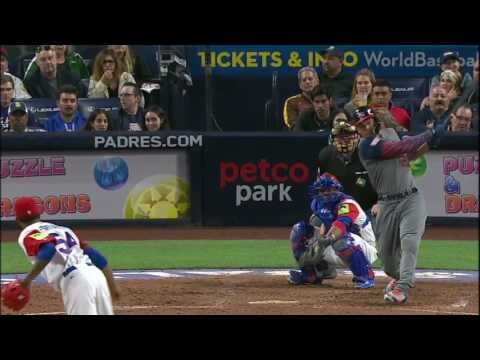 (HD) Giancarlo Stanton Two Run Homer | WBC 2017