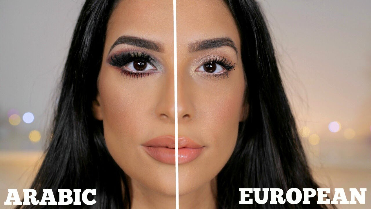 ARABIC vs EUROPEAN Makeup | Lamiya Slimani - YouTube