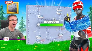 Nick Eh 30 reącts to new 2500HP wall in Fortnite!