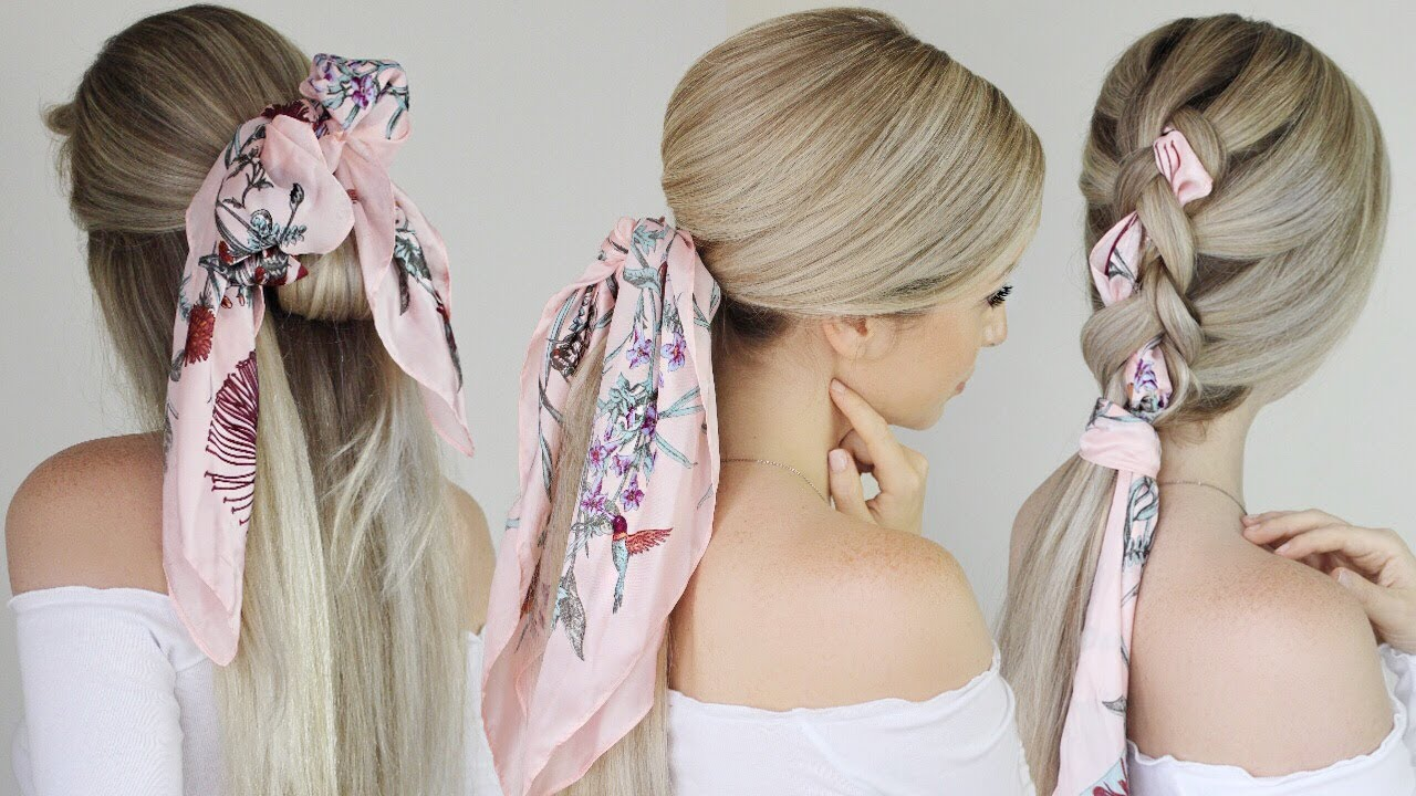 easy hairstyles with scarf