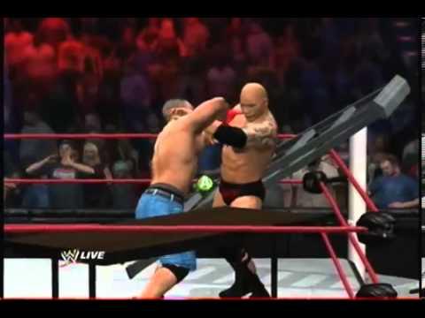 WWE Smackdown Vs Raw 2012 - John Cena Vs. The Rock - TLC Match