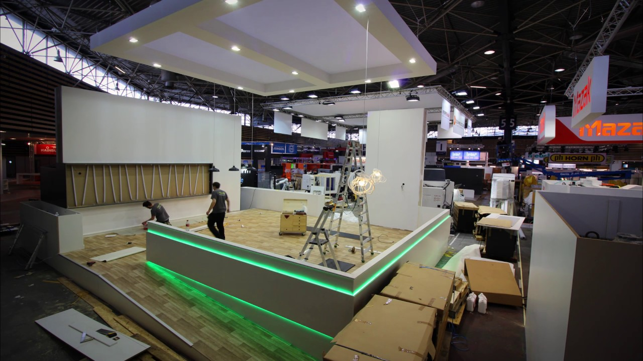 montage stand salon industrie by capsule concept youtube