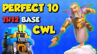 TOP 10 PERFECT CLAN WAR LEAGUE BASE TH12 + WITH LINK | CWL TH12 BASE MONTH OF THE JULY | ANTI 3 STAR