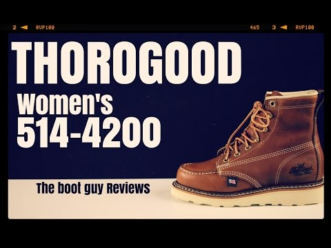 "Thorogood American Heritage Women's 6"" Moc Toe [ The Boot Guy Reviews ]"