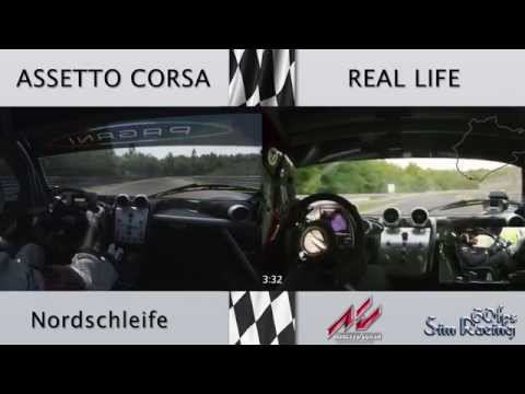 Assetto Corsa 1.1 vs Real Life - Pagani Zonda R @ Nordschleife (laser-scanned)
