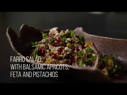 Farro and Lentil Salad with Balsamic Apricots