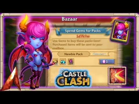 Castle Clash Get A Free Succubus From The Bazaar!