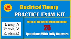 Units of Electrical Measurements Quiz (25 Questions With Fully Answers)