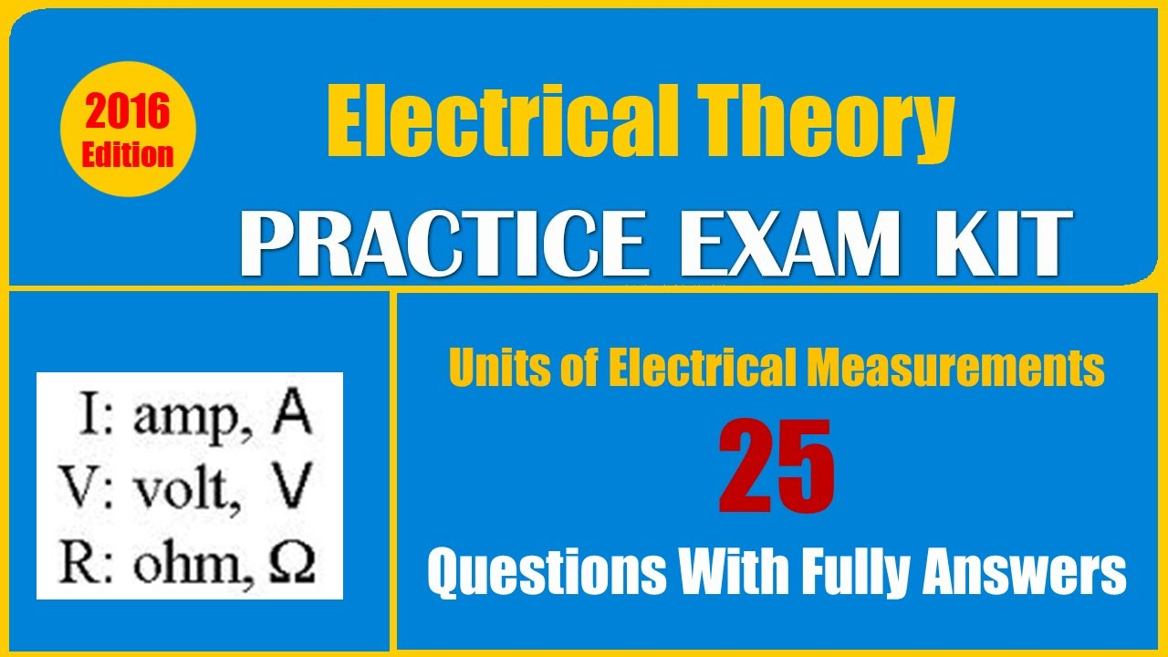 units of electrical measurements quiz 25 questions with fully rh youtube com Basic Home Electrical Wiring Diagrams Telephone Wiring Basics