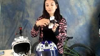 Soporte de camara para casco en moto o bicicleta