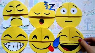 Easy paper craft: DIY emoji bookmark corners | Maison Zizou