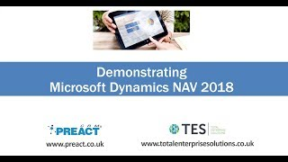 Introduction to Microsoft Dynamics NAV 2018