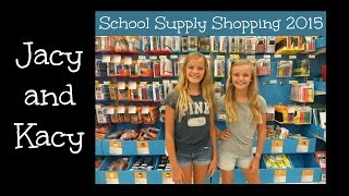 Back to School ~ Supply Shopping 2015 ~ Jacy and Kacy