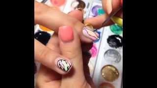 Нежный дизайн + литье! Литье на ногтях!