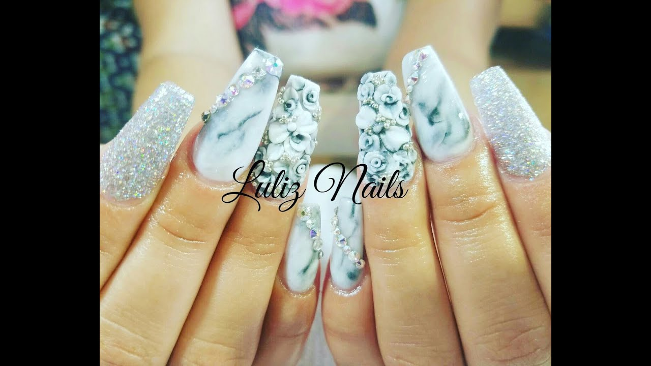 U as efecto m rmol how to marble nails luliz nails for Marmol de color azul