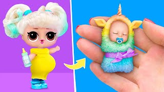Download lagu 10 DIY Baby Doll Hacks and Crafts / Miniature Baby, Crib, Diapers and More!
