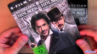 Sherlock Holmes STEELBOOK blu-ray unboxing review Game of Shadows