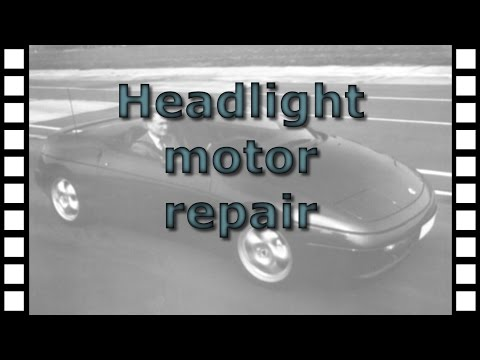 Repairing the headlight motor on the Lotus Elan M100