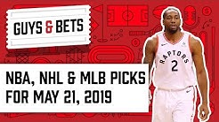 Guys & Bets: Bucks at Raptors Game 4, Plus NHL Playoffs and MLB Picks!