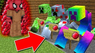 FAKİR MUTANT CREEPER SATICISI OLDU! (1 MUTANT CREEPER 9999 RUBY!) - Minecraft