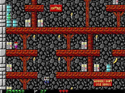 Apogee Crystal Caves I, Troubles With Twibbles, 1991. Level 15 Walkthrough