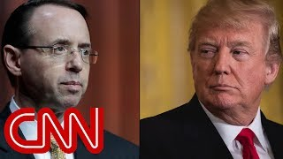 President Trump says he has no plans to fire Rosenstein
