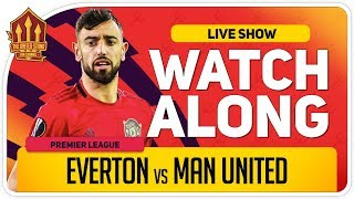 EVERTON vs MANCHESTER UNITED | With Mark Goldbridge LIVE