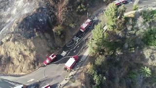 LAFD Utilizes Drones (UAS) Technology to Help Battle Griffith Park Fire 7/10/18, Video 1