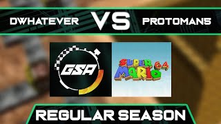 Dwhatever vs protoman5 | Regular Season | GSA SM64 70 Star Speedrun League Season 3