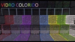 Como fazer vidro colorido no minecraft
