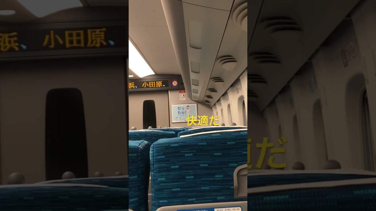 指定席ガラガラでラッシュと無縁の新幹線