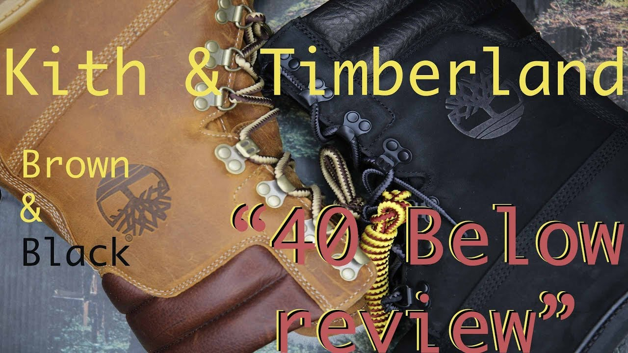 a86a3c22190b Kith   Timberland Brown And Black Review and on foot - YouTube