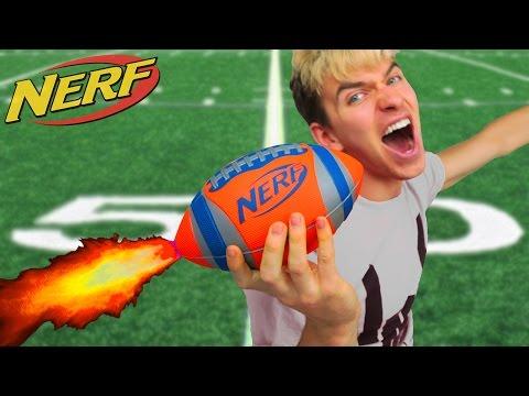 NERF FOOTBALL!! (ROCKET MOD)