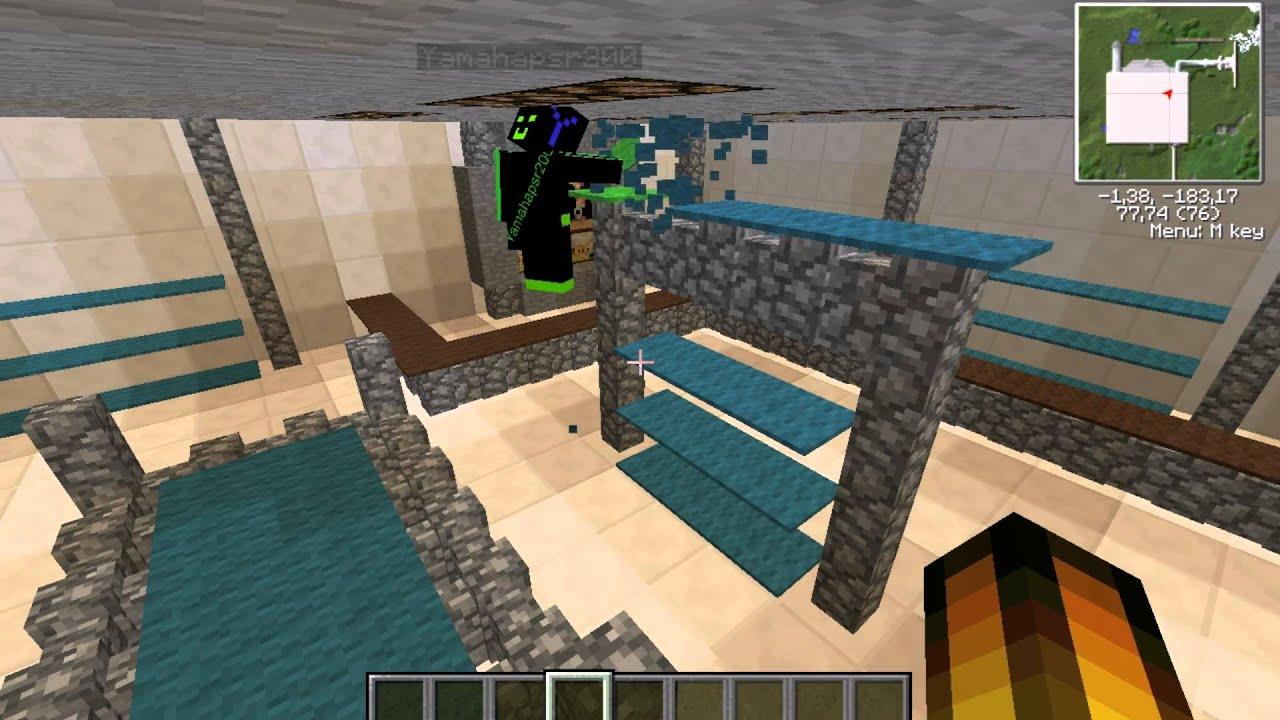 Let's Show Minecraft Piston House Waschmaschine Part 1
