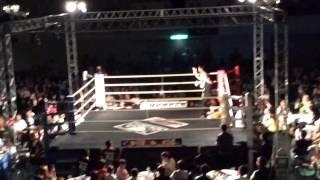 上杉文博 フェザー級タイトルマッチ KO勝ち