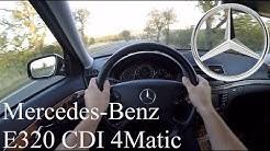 Mercedes-Benz E320 CDI 4-Matic (W211) POV Test Drive + Acceleration 0 - 200 km/h