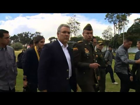AFP news agency: Colombian president arrives at scene of apparent car bomb