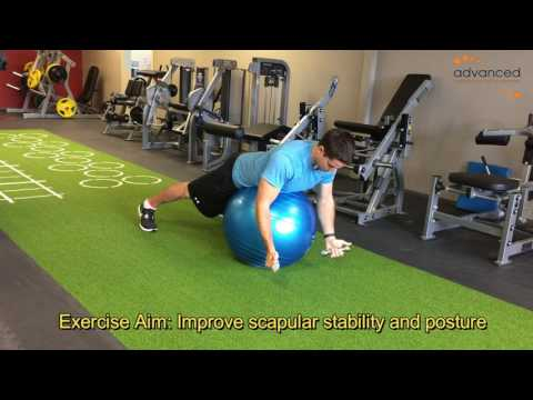 SHOULDER EXERCISES Prone Y DB on Ex Ball