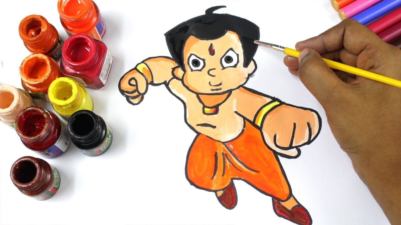 Chhota Bheem Colouring Page Coloring Chhota Bheem Cartoon