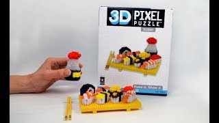 Deluxe 3D Pixel Puzzle Sushi